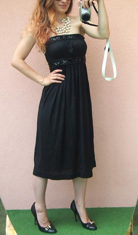 H&M nenosené zdobené glamour korzetové šaty - Obrázok č. 2