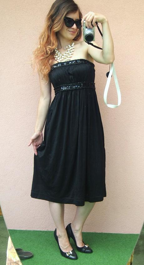 H&M nenosené zdobené glamour korzetové šaty - Obrázok č. 1