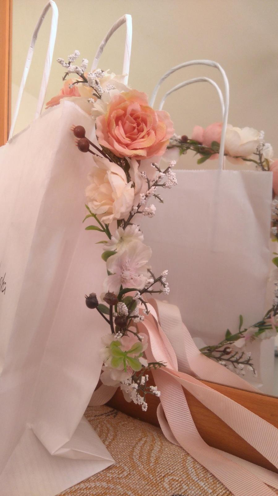 Svadobný veniec čelenka z kvetov - Obrázok č. 3