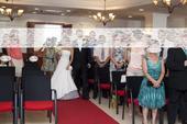 svadobné šaty + závoj, 36