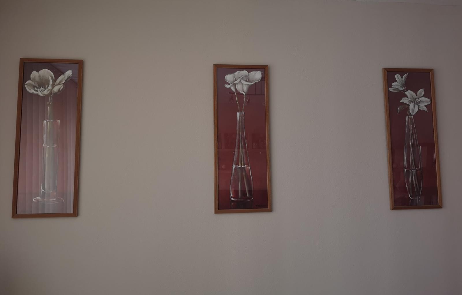 3 ks obrazy kvetov - Obrázok č. 1