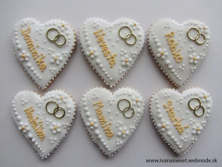 Svadobné perníčky s prstienkami - Obrázok č. 47