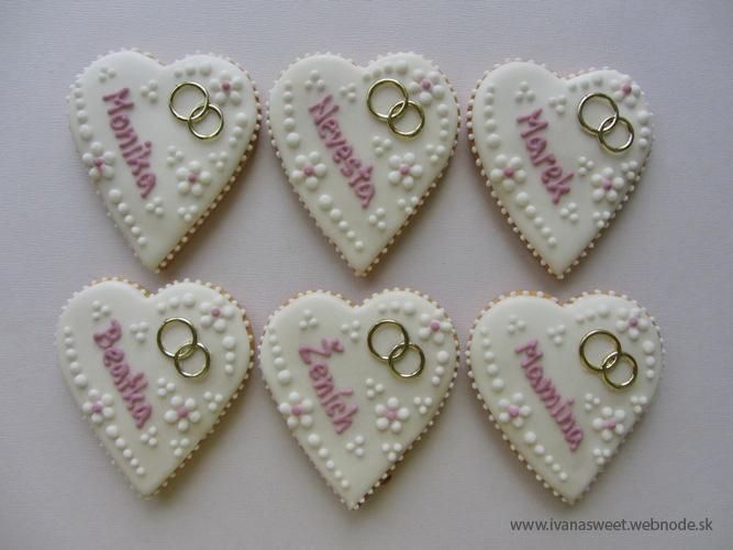 Svadobné perníčky s prstienkami - Obrázok č. 3