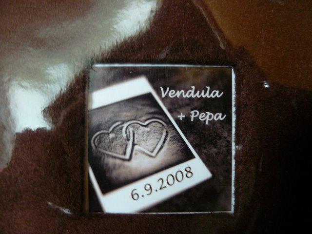 Přípravy - Vendula a Pepa 6.9.2008 - detail albicka a svatebni knihy