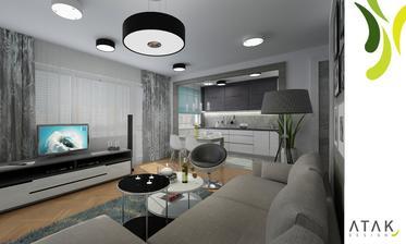 Obývací prostor varianta 2 - vizualizace
