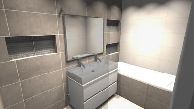 Koupelna varianta 2 - vizualizace