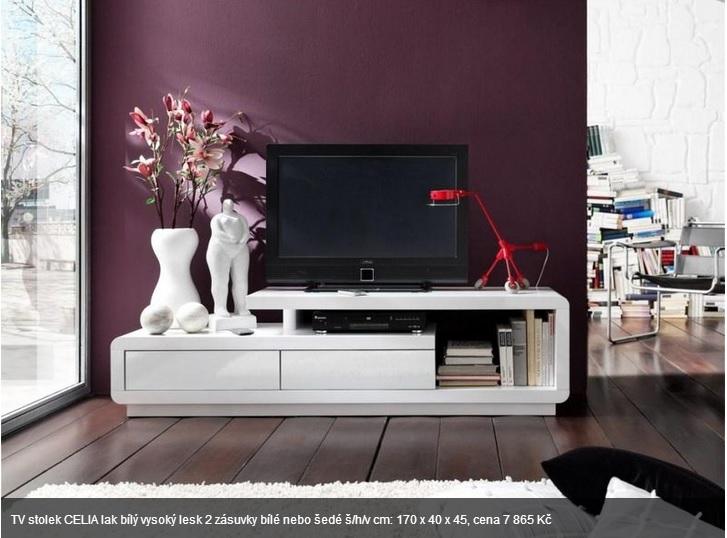 Kompletní rekonstrukce bytu 3+1 - vizualizace, vybrané zařízení a plány - Inspirativní TV stolek, asi by měl klasické hrany a ne zaoblené