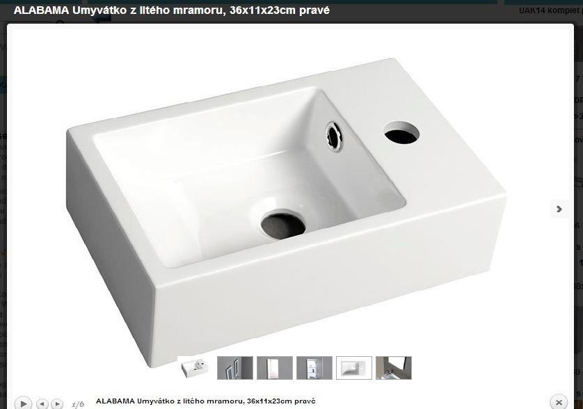 Kompletní rekonstrukce bytu 3+1 - vizualizace, vybrané zařízení a plány - Umývátko na WC
