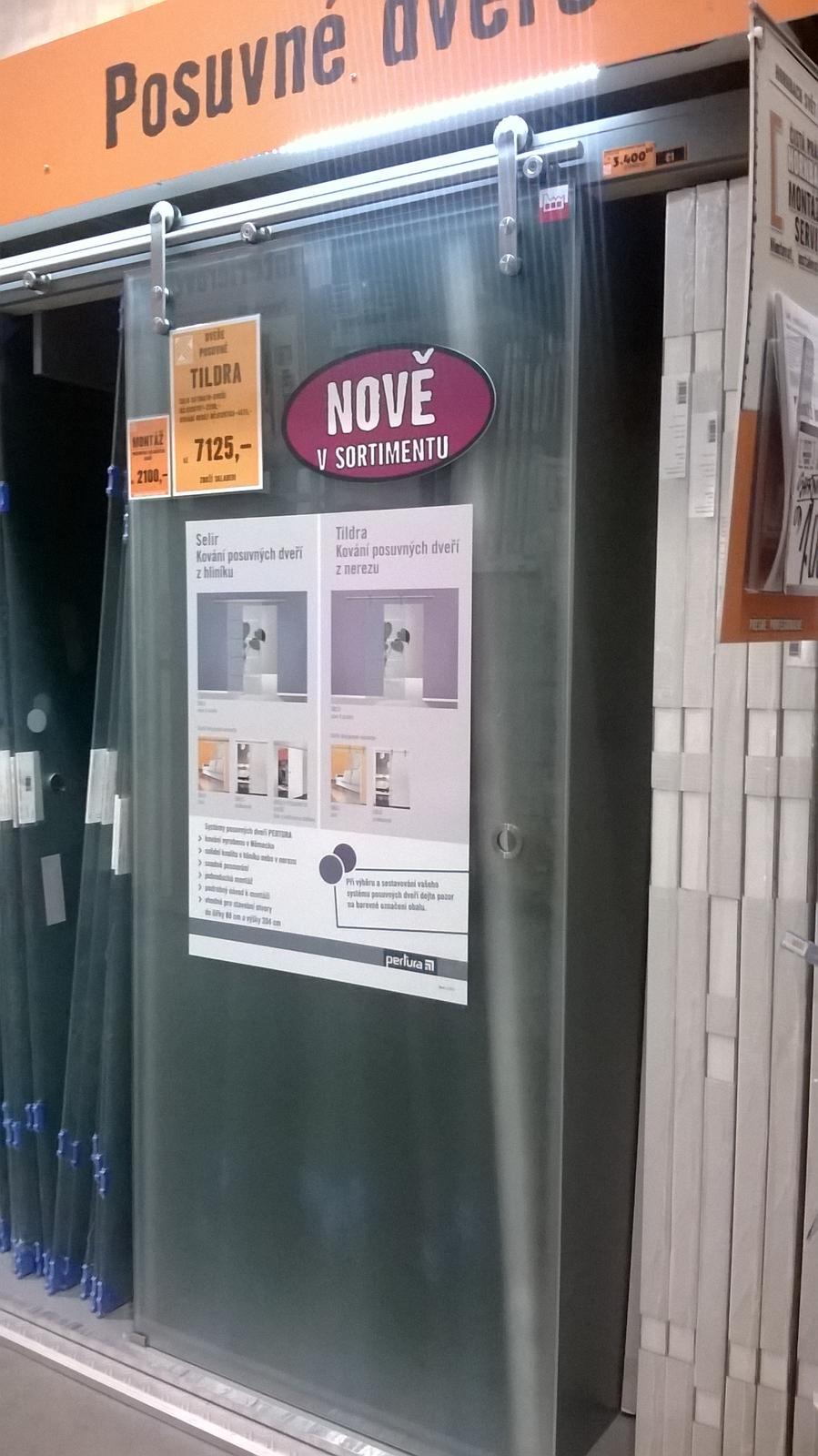 Kompletní rekonstrukce bytu 3+1 - vizualizace, vybrané zařízení a plány - Skleněné dveře do koupelny