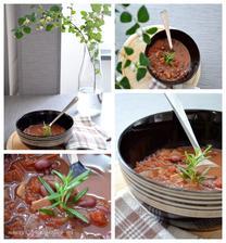 Fazolovo-rajčatová polévka s rozmarýnem