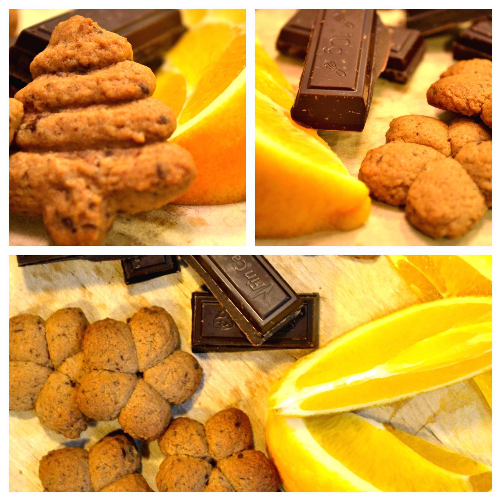 Upečeno a uvařeno u nás doma - Máslové sušenky s čokoládou a pomerančovou kůrou - krásně nám to teď v kuchyni voní