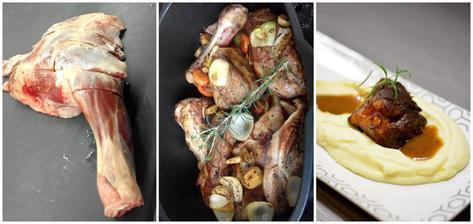 Když marodím, vaří milý a různě experimentuje - tentokrát pomalu pečená jehněčí kýta na kořenové zelenině