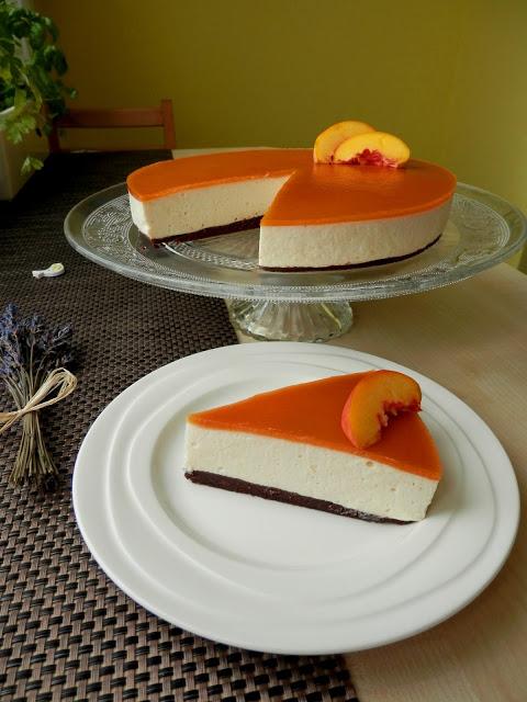 V kuchyni - Broskvový dort s mascarpone