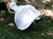 svatební šaty s krátkou vlečkou pro malou nevěstu , 36