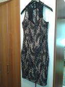 zlato-čierne krátke šaty, 40