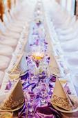 Satén na svatební tabuli,