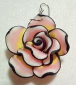 Náušnice ve tvaru 3D růžiček,