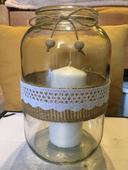 Svícny ze zavařovacích sklenic (4 litry),