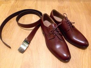 Pásek a boty pro manžílka :)