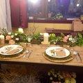 Svatební tabule pro venkovní hostinu na roubence :)