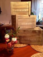 Dřevěné bedýnky :)