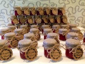 Jahodové marmeládky hotové :)