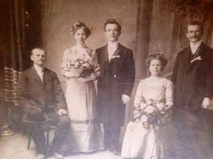 Nejstarší fotografie, kterou jsem našla na náš rodinný strom - praprapraprarodiče :)