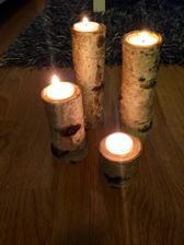 Březové svícny :)