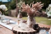 Dřevěné koláče, podnosy, kolečka Rustic,