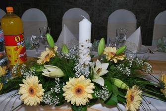 dekorácia na stoloch