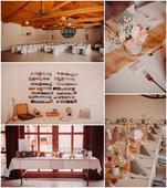 Růžovo - šedá svatba v přírodním stylu,