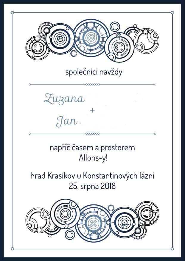 Zuzana{{_AND_}}Honza - Svatební oznámení, jména zamazána :)
