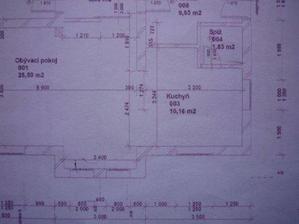 detail dispozice kuchyně