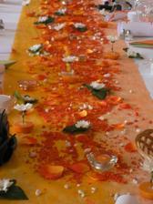 Naše svatba byla laděná do oranžové barvy