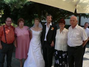 Společné foto s rodiči