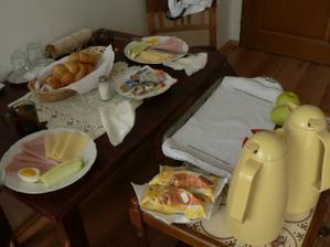 se snídaní na pokoj