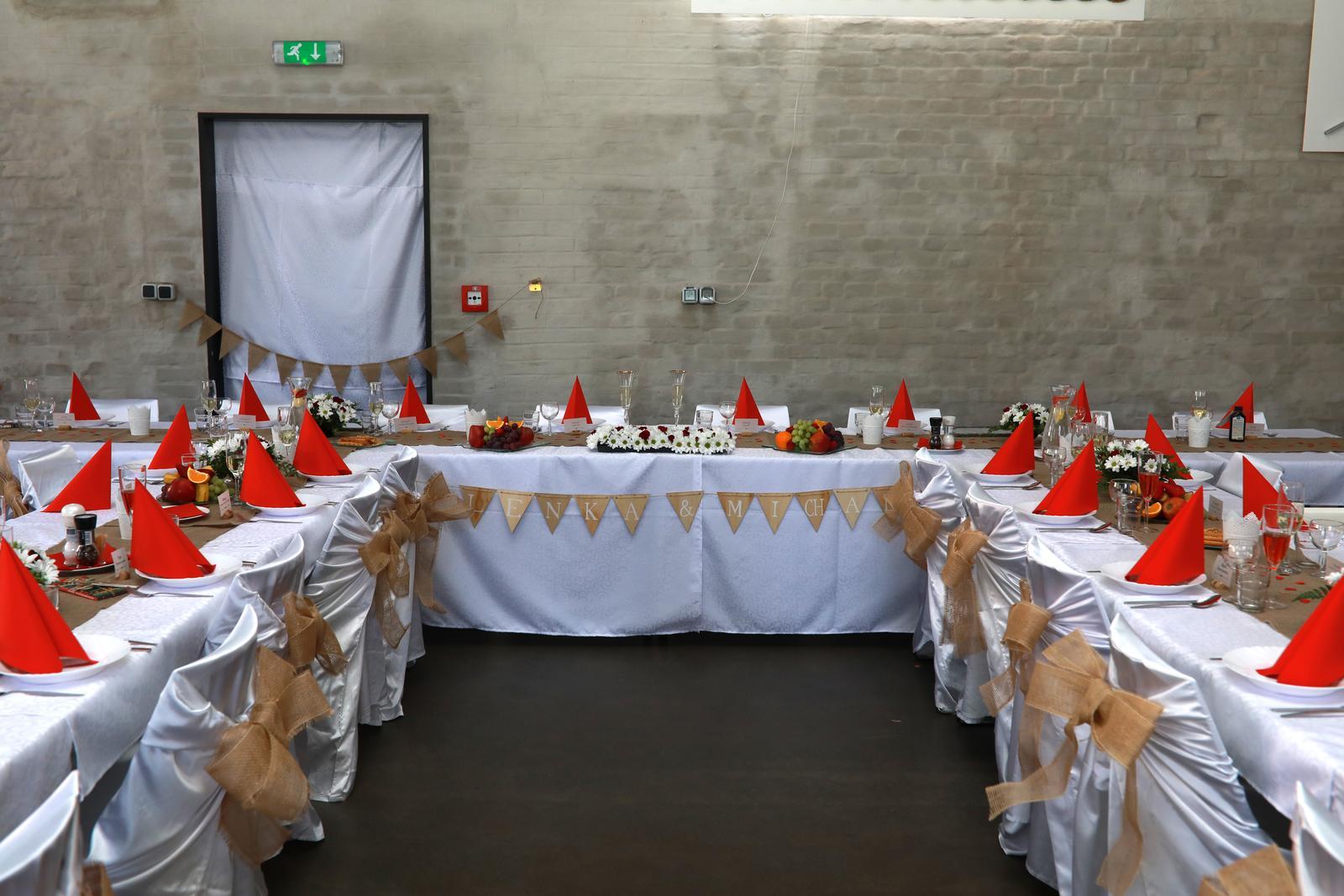 Jutové/korkové svatební dekorace  - Obrázek č. 1