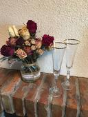 Novomanželské skleničky na šampaňské,