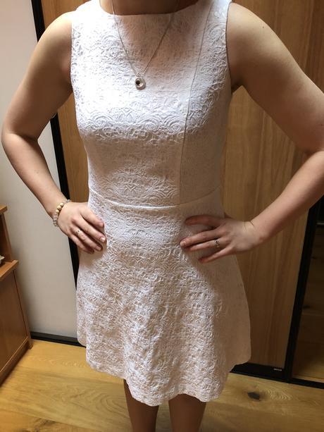 Bílé společenské šaty BodyFlirt, vel. 34 - Obrázek č. 1