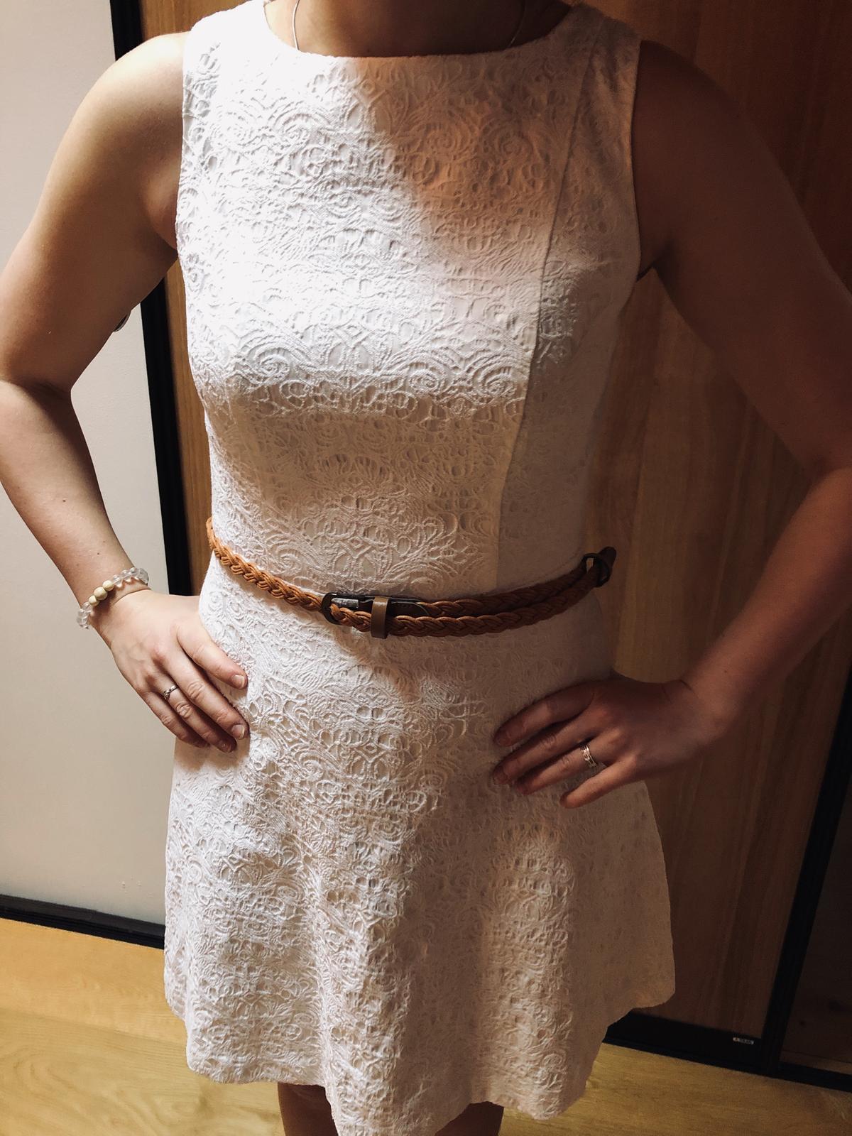 Bílé společenské šaty BodyFlirt, vel. 34 - Obrázek č. 4