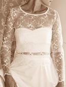 Krajkové dvoudílné šaty, 38