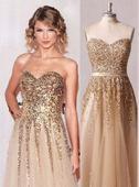 Zlaté spoločenské šaty, S