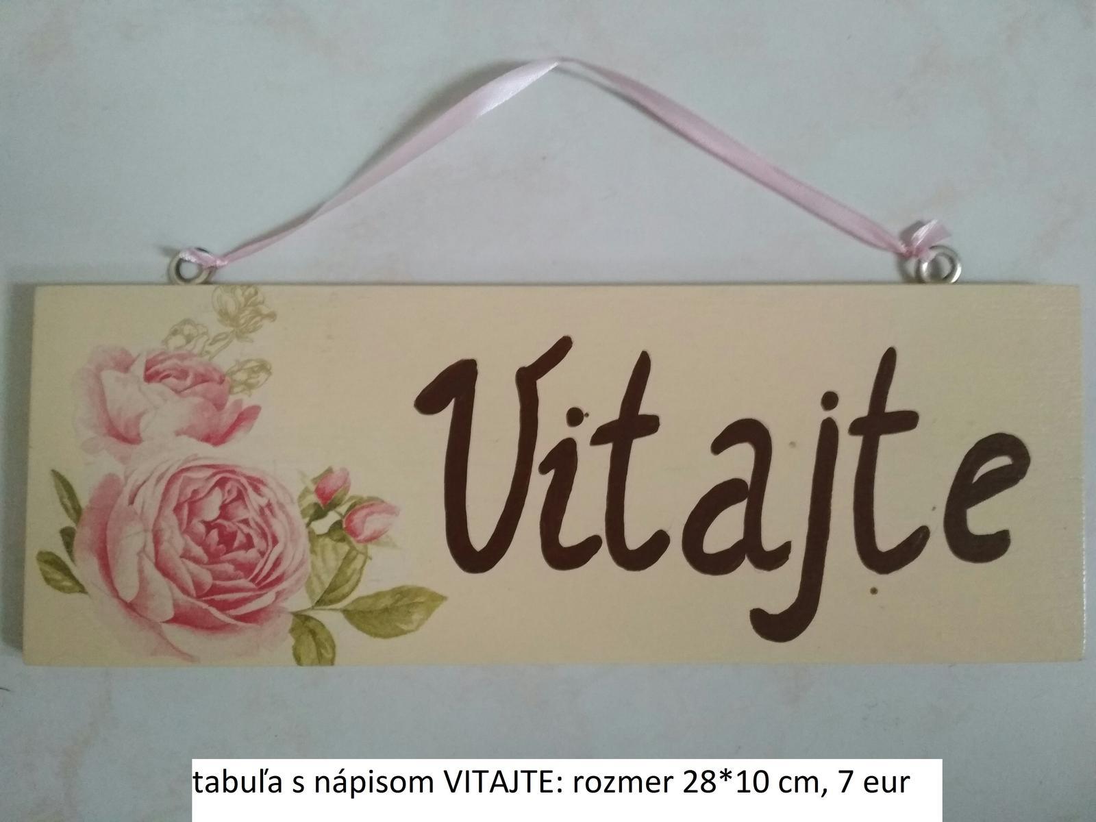 tabuľa VITAJTE - Obrázok č. 1
