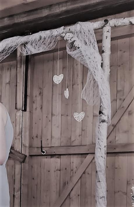 svatební dekorace - srdíčka malá 7ks - Obrázek č. 3