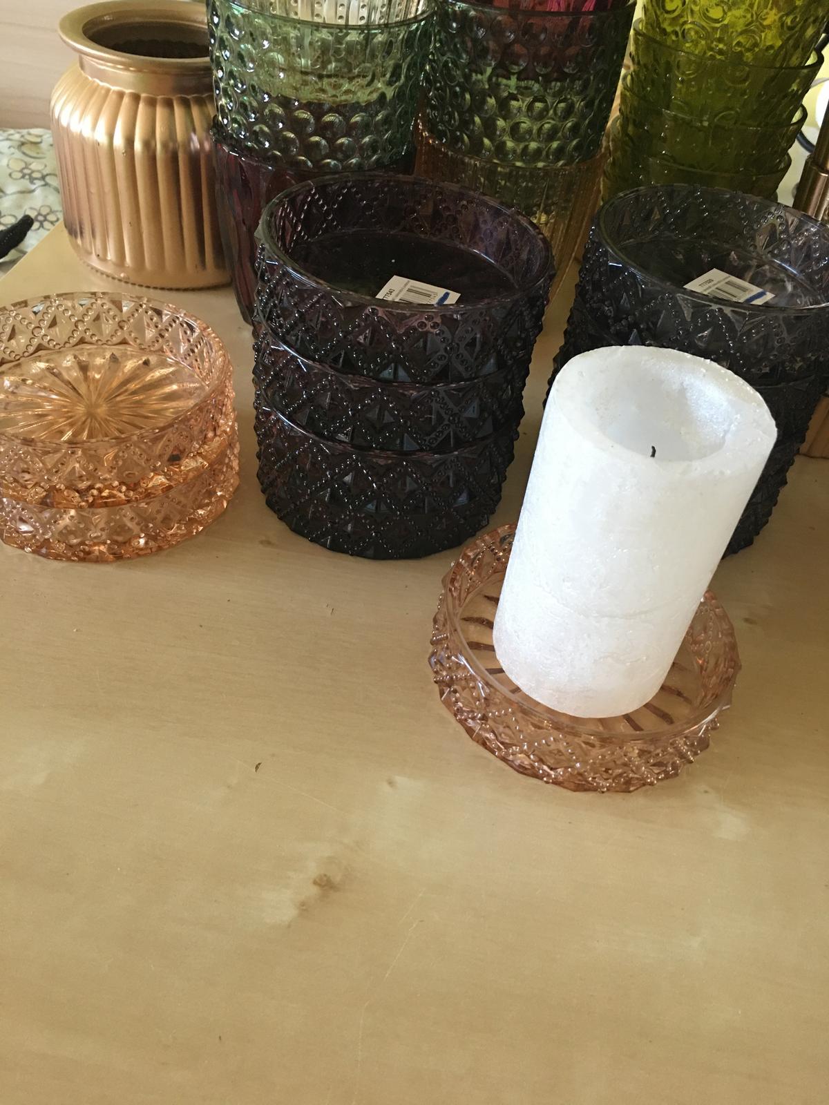Skleněné podtácky na válcové svíčky - Obrázek č. 1