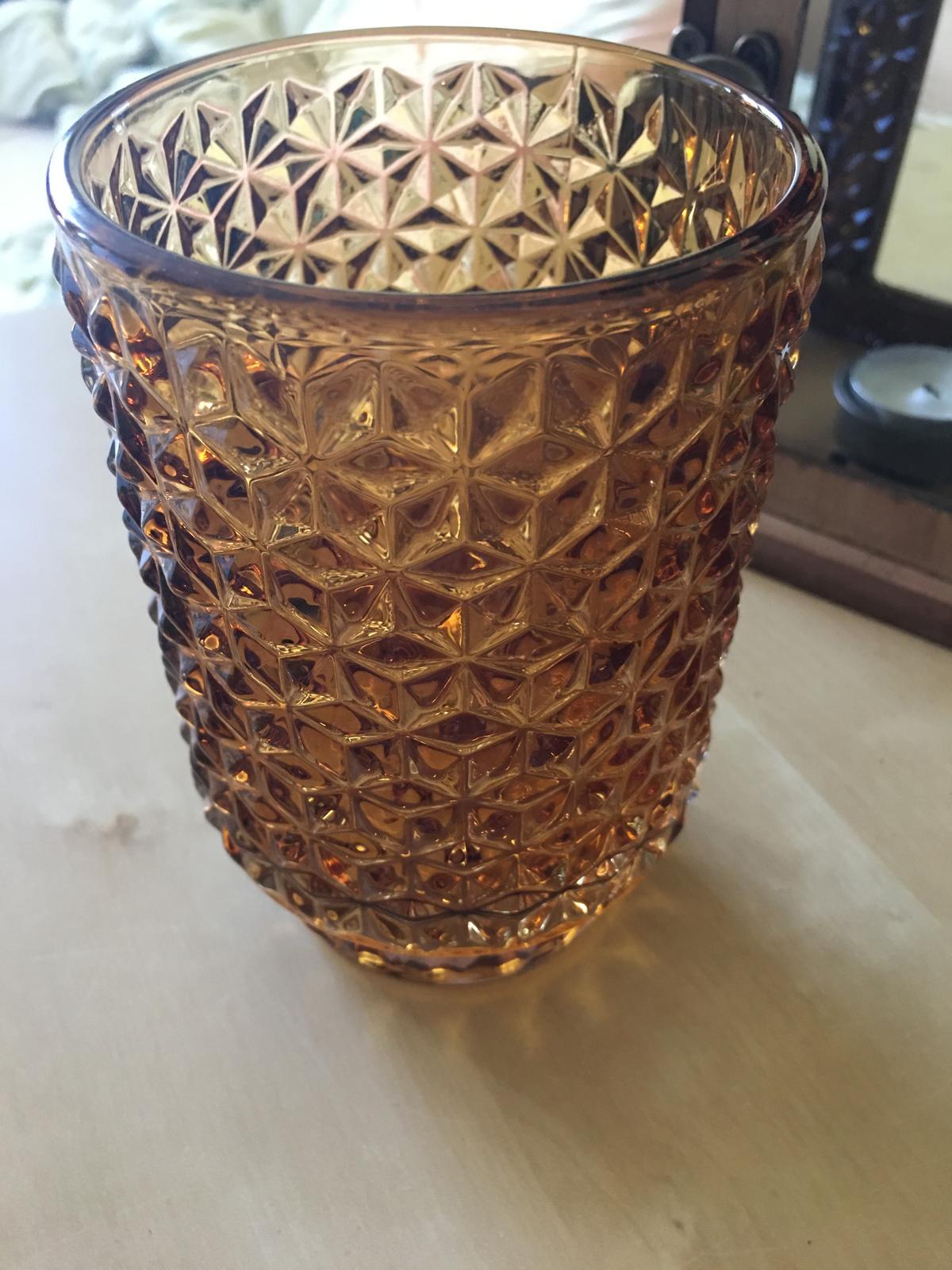skleněnà broušená váza/svícen - Obrázek č. 1