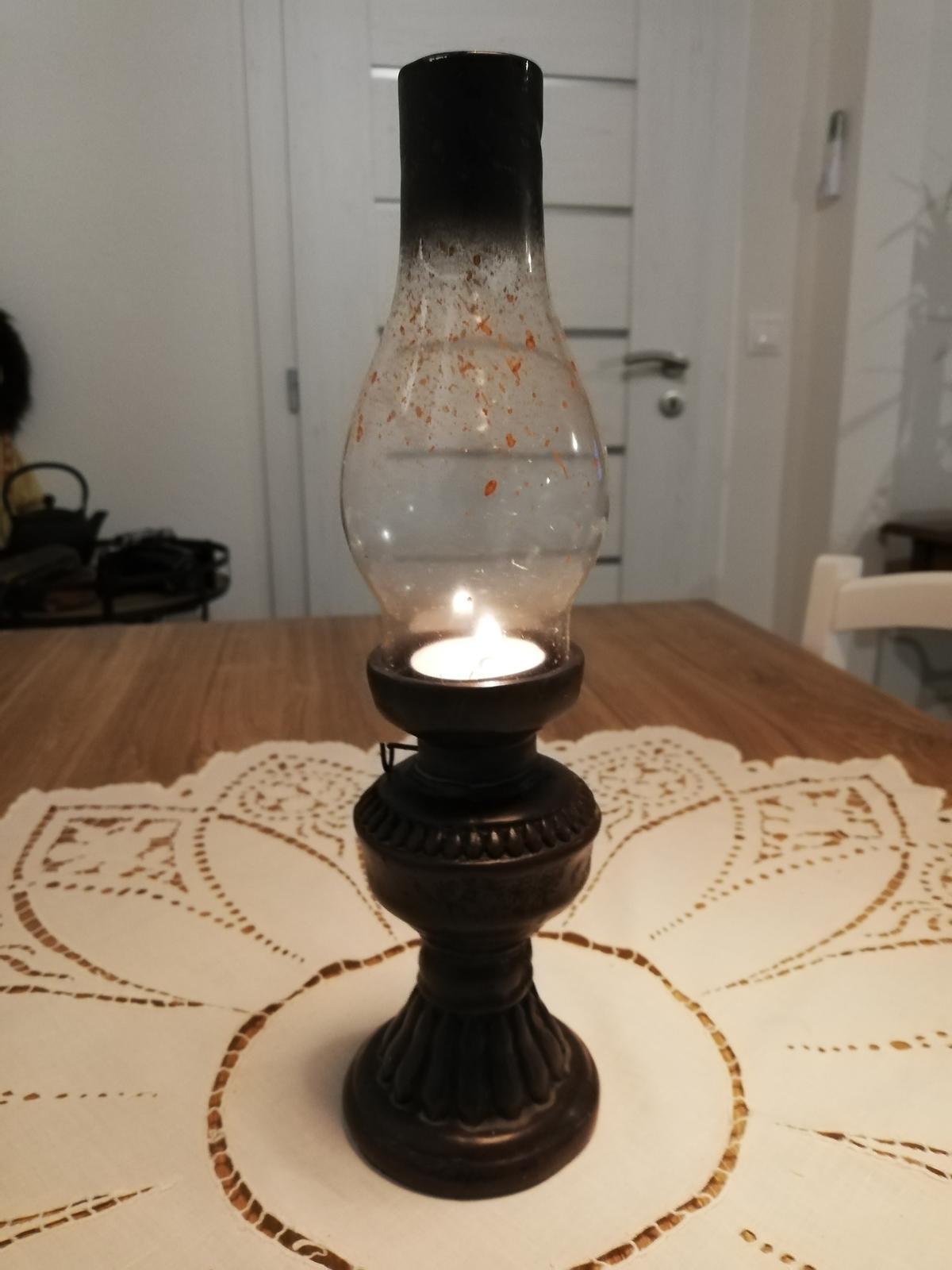 Nostalgická petrolejová lampa - Obrázok č. 1