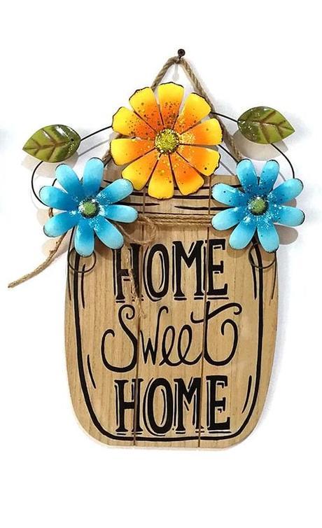 Dekoračná tabuľka Sweet home - Obrázok č. 1