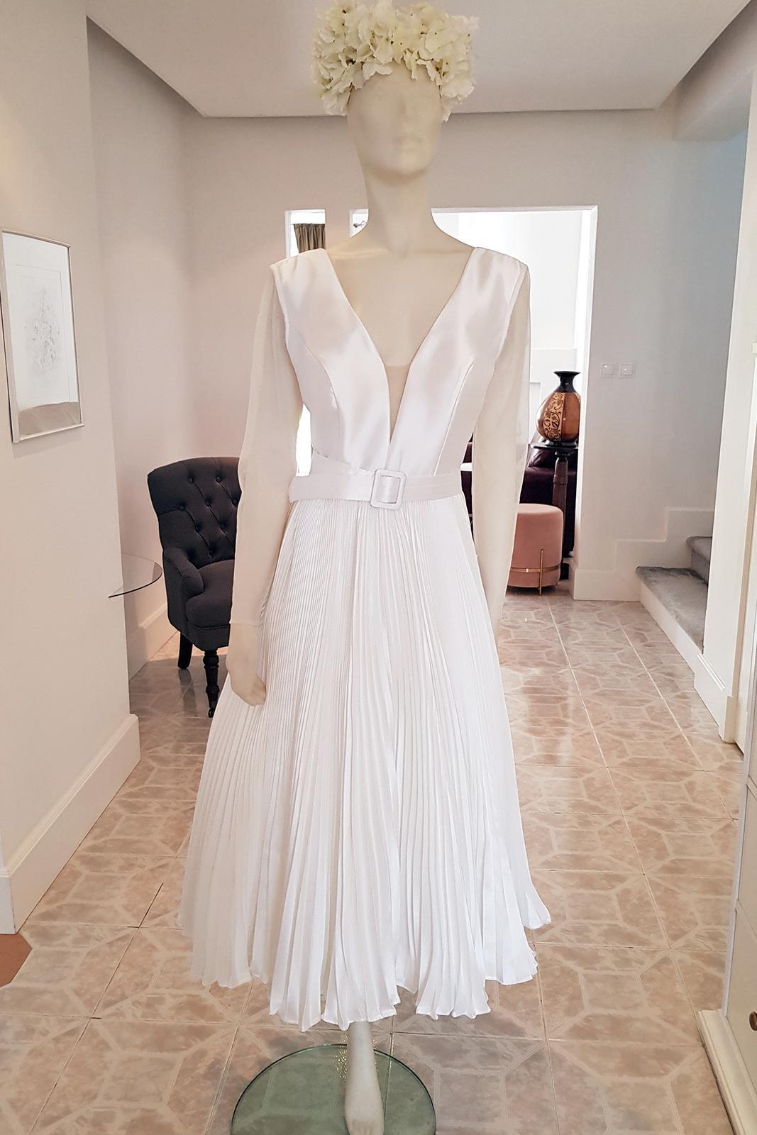 Popolnočné šaty/svadobné šaty - Obrázok č. 3