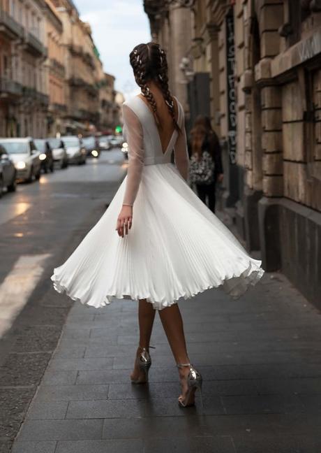 Popolnočné šaty/svadobné šaty - Obrázok č. 1
